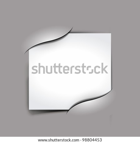 Composite empty photo frame with places for photo, eps10 vector background - stock vector