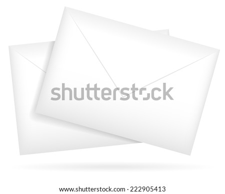 Composition of a pair of envelopes. vector graphics - stock vector