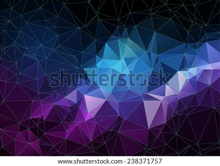Composition with triangles geometric shapes for web design - stock vector