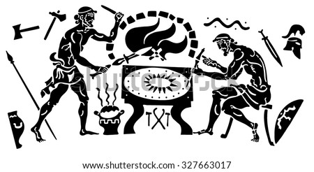 Compositional background in Greek style - stock vector