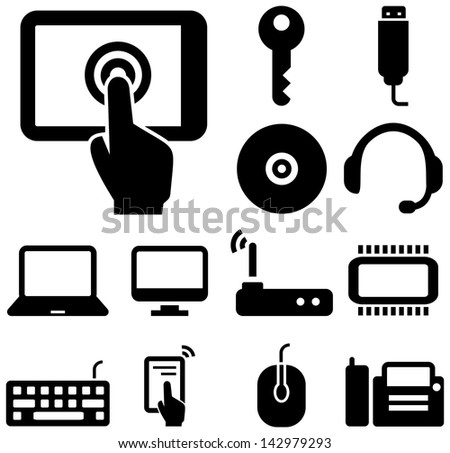 Computer and Internet icons - stock vector