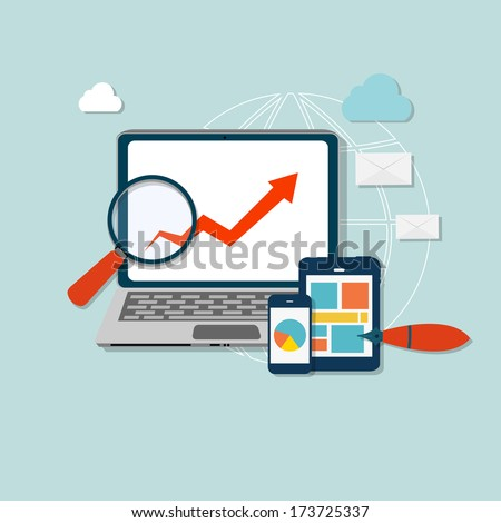 Computer busness icon vector illustration - stock vector