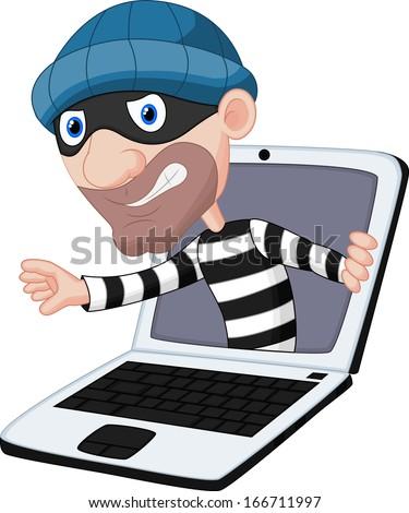 Computer crime - stock vector
