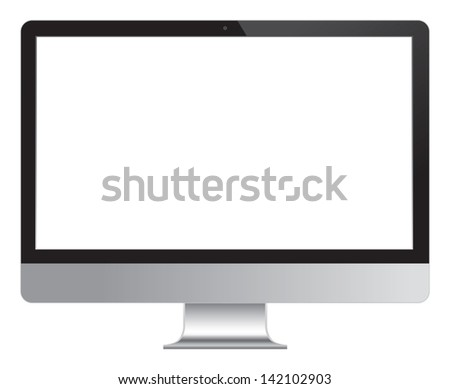 Computer Desktop Monitor, Display vector illustration. - stock vector