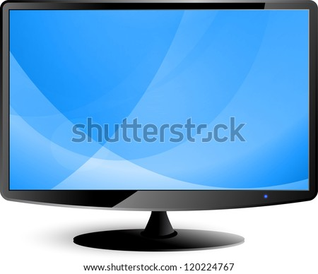 Computer display - stock vector