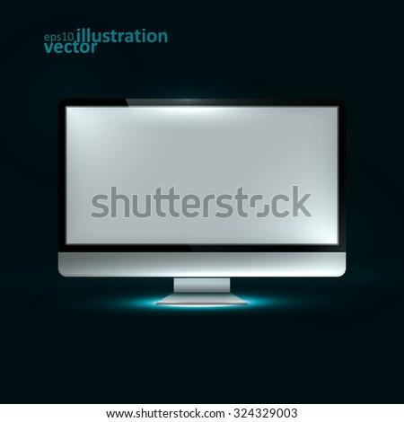 Computer Display. Creative dynamic light element, vector Illustrations eps10. - stock vector