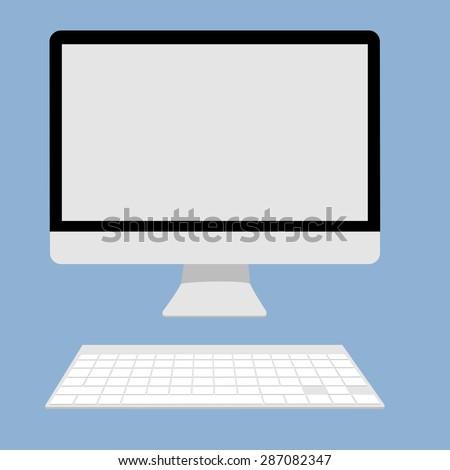 Computer display Icon vector illustration. - stock vector