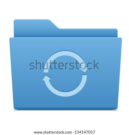Computer folder with update symbol - stock vector