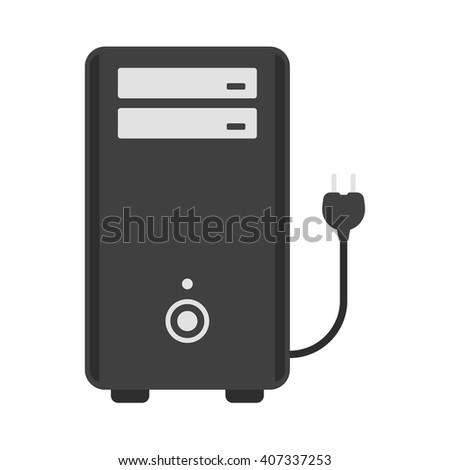 Computer icon. - stock vector