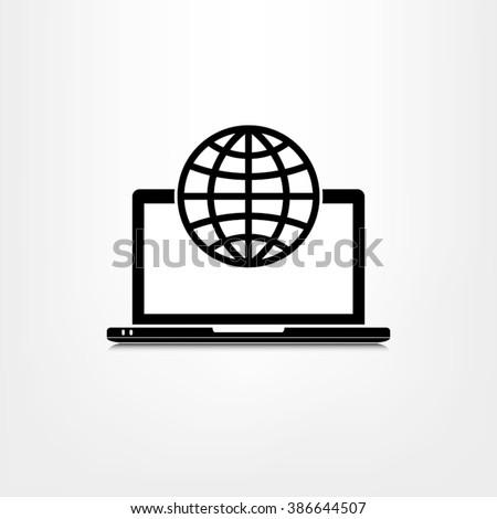 Computer icon vector illustration eps10. - stock vector