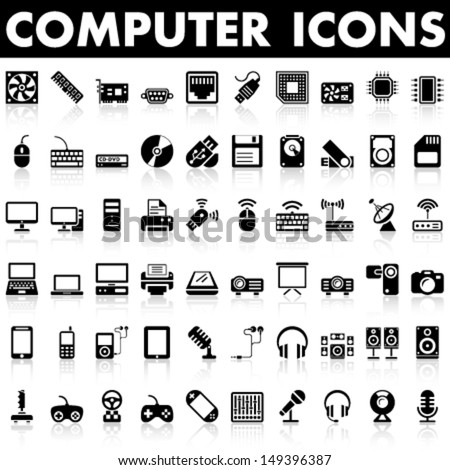 Computer Icons, Hardware - stock vector