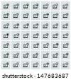 Computer icons,vector - stock vector