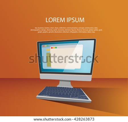 Computer image vector illustration. - stock vector