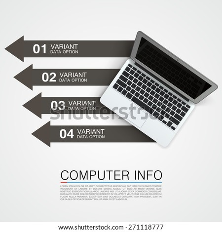 Computer info banner. Vector illustration - stock vector