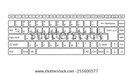 Computer keyboards for using in app. Vector image - stock vector