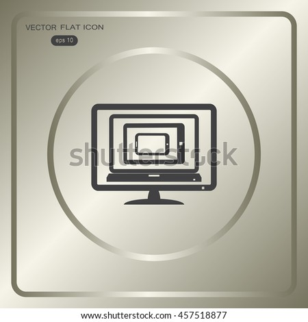 Computer laptop tablet phone isolated logos eps10 vector - stock vector