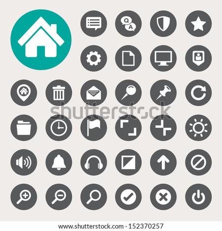 Computer menu icons set. Illustration eps 10 - stock vector