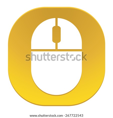 Computer mouse icon - stock vector