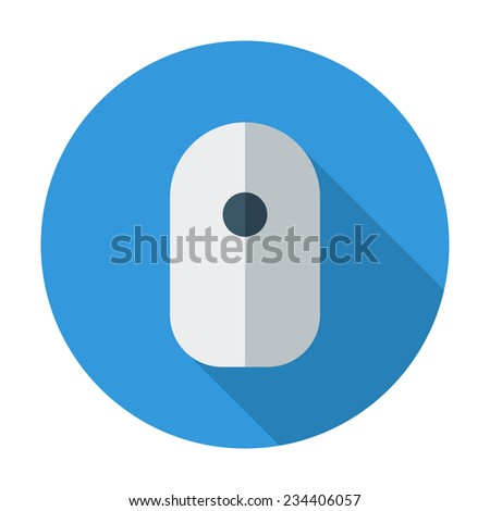 Computer Mouse. Single flat color icon. Vector illustration. - stock vector