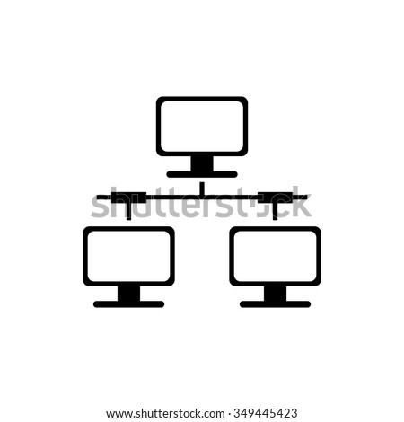 computer network icon - stock vector
