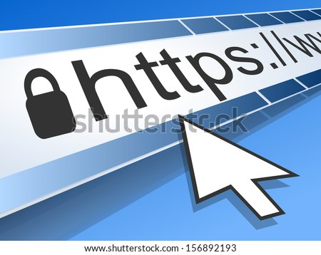 Computer Screen With Address Bar of Web Browser - stock vector