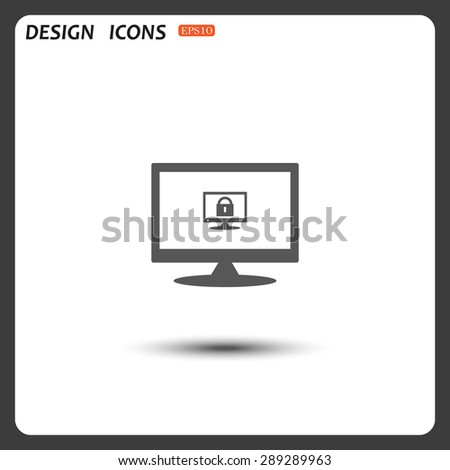 Computer security concept. icon. vector design - stock vector