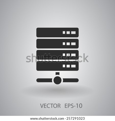 Computer Server icon, vector illustration - stock vector