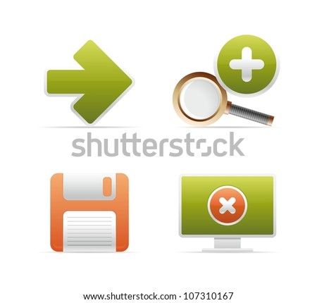 computer vector icons - stock vector