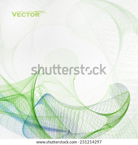 Concept abstract background, futuristic wavy vector illustration eps10 - stock vector