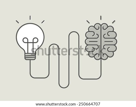 concept banner of creative thinking, vector illustration - stock vector