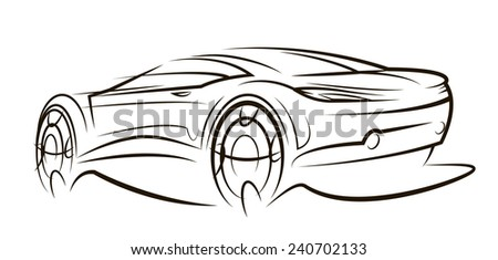 Concept car - stock vector