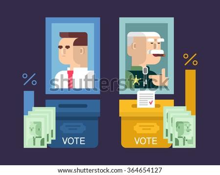 Concept elections design flat - stock vector