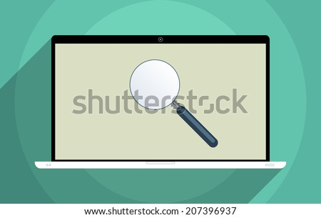 Concept for finding solutions, e-learning, decision making, solve problems and searching for information. Flat design illustration. - stock vector