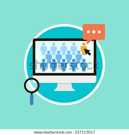 Concept for human resource management, searching employees, selecting professional staff. The choice of the best suited employee. Flat vector illustration. - stock vector