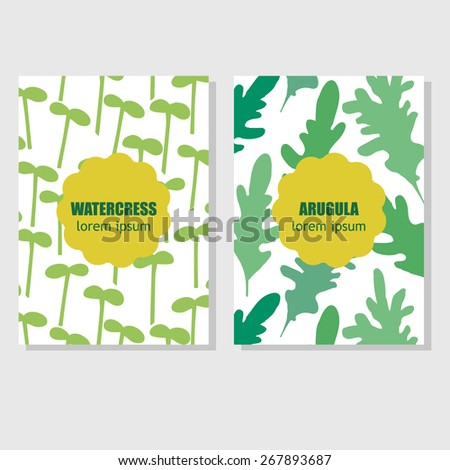 Concept for packing design. Set seamless hand drawn patterns with different aromatic herbs and spices.  - stock vector