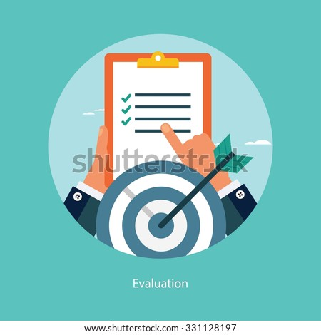 Concept for web banners and promotions. Flat design concept for success in business - stock vector
