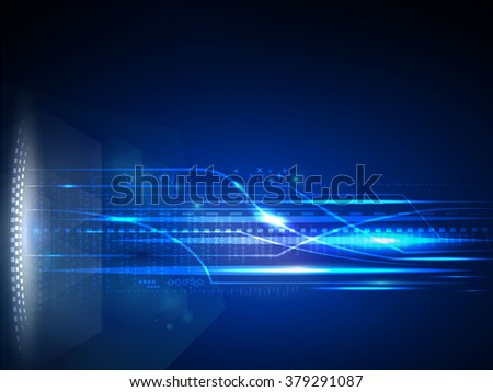 Concept futuristic future technology transfer high speed connection vector - stock vector