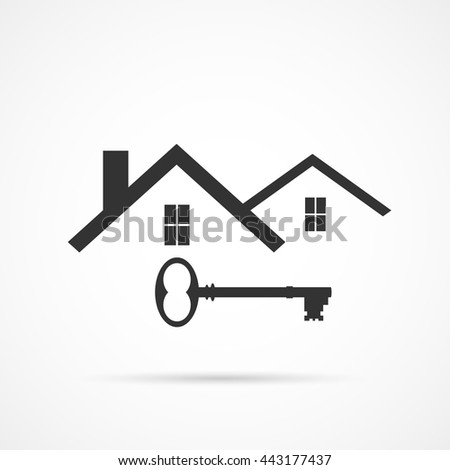 Concept image of an abstract house design isolated on a white background. - stock vector