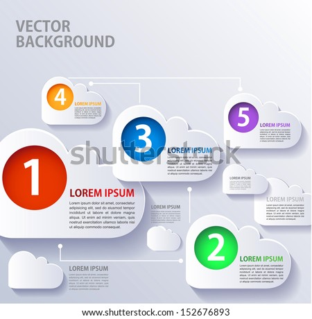 Concept infographics options banner. - stock vector