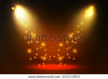 Concept light background. Spotlight. Vector illustration - stock vector