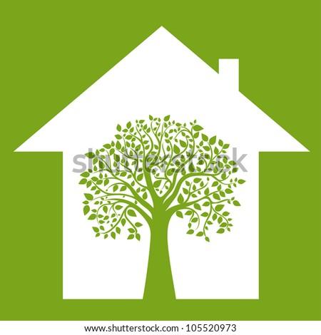concept make your home environmentally friendly, vector - stock vector