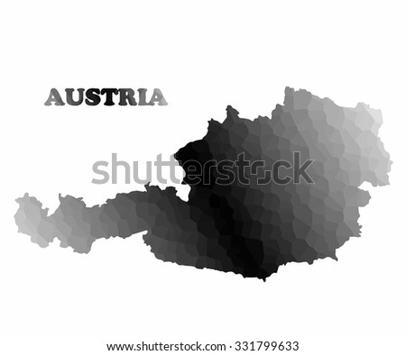 Concept map of Austria, vector design Illustration. - stock vector