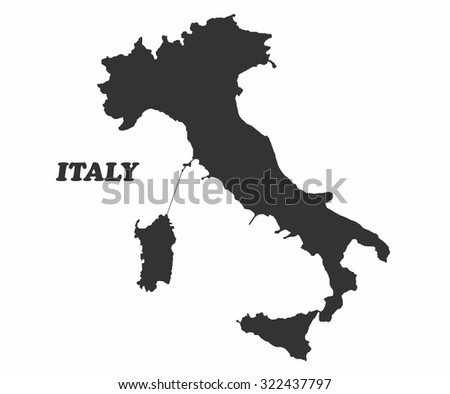 Concept map of Italy, vector design Illustration. - stock vector