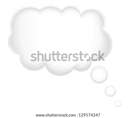 concept of a dream in the cloud vector illustration isolated on white background - stock vector