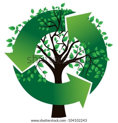 concept of an ecological theme, vector image - stock vector