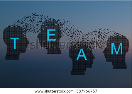 Concept of Brain storming, Knowledge sharing between to people head, this was shown through cogwheels transferring from one human brain to other, this also represents creative mind, innovation.  - stock vector