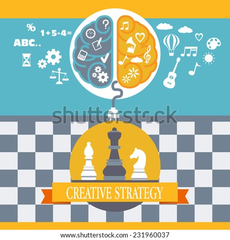 Concept of business creative strategy  - stock vector