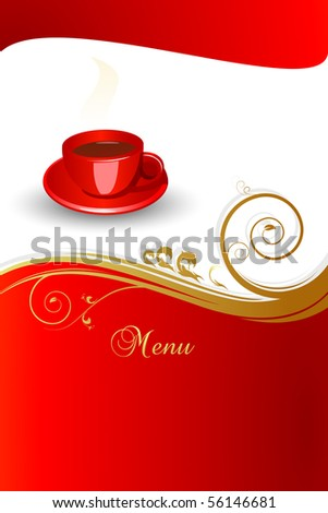 Concept of coffee menu.Vector illustration. JPG available in my gallery. - stock vector
