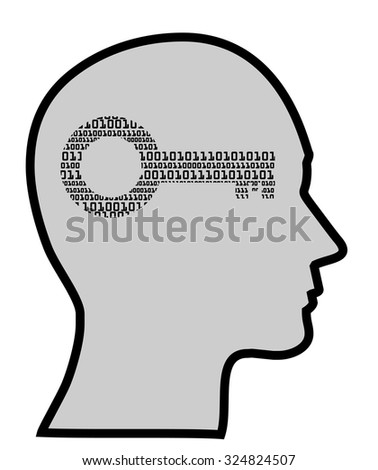 concept of digital mind, vector eps10 - stock vector
