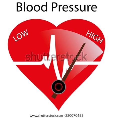 Concept of hypertension, vector illustration - stock vector